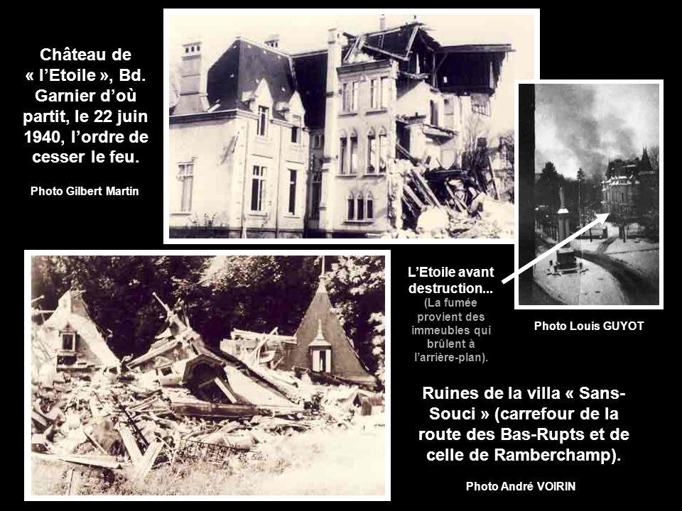 Partie non détruite en 1944 Grand Hôtel du lac Union nautique Patinoire Casino Hôtels Beau Rivage et Beau Séjour Casernes Kléber 1939