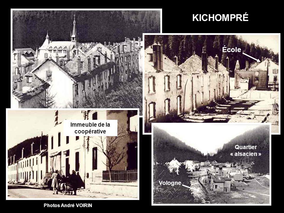 Le Saut-des-Cuves avant la guerre. Pont provisoire en bois. Doc. Suzanne RATTAIRE Hôtel reconstruit (Il nexiste plus aujourdhui).