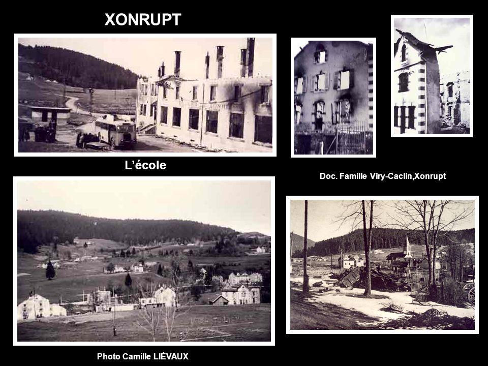 XONRUPT Photo Camille LIÉVAUX Doc. Famille Viry-Caclin,Xonrupt Lécole