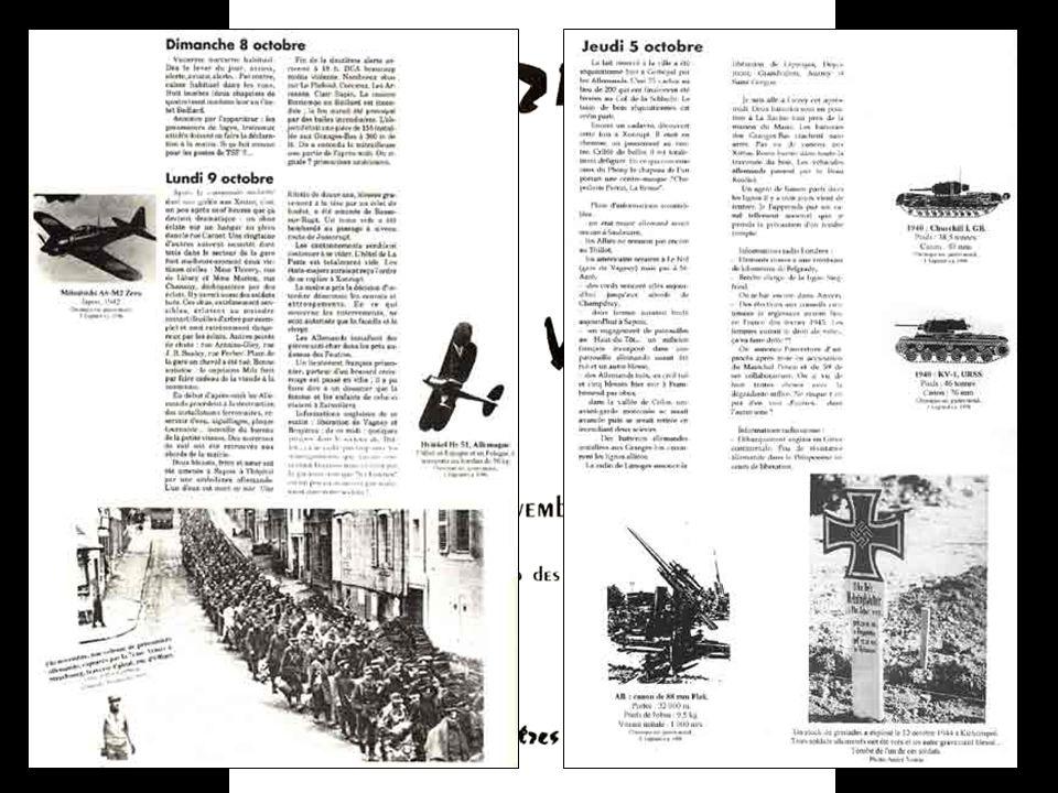 Lidée de départ était de rassembler dans une petite brochure les « Souvenirs dun gérômois » (août-novembre 1944) publiés dans lEcho des Vosges de fin