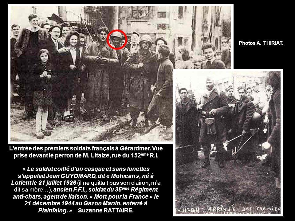 Lentrée des premiers soldats français à Gérardmer.