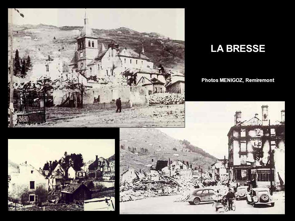 « La rue Thiers en cours de déblaiement, vue depuis la tour sud de la cathédrale. Seuls les bâtiments du premier tronçon de la rue, à droite, sont aba