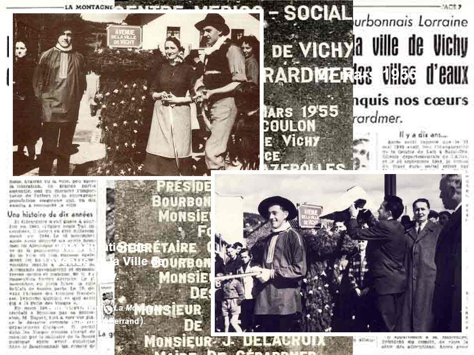 27 mars 1955 Inauguration de lAvenue de la Ville de Vichy.