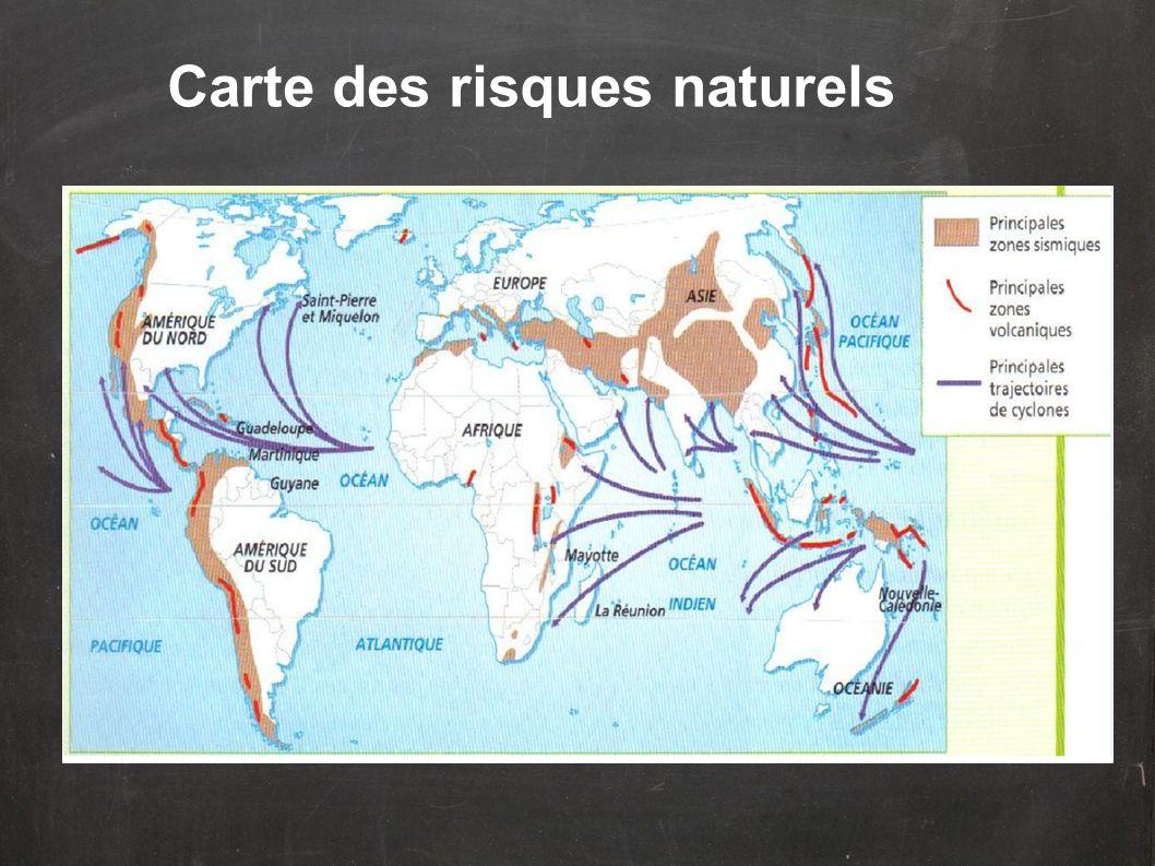 Carte des risques naturels