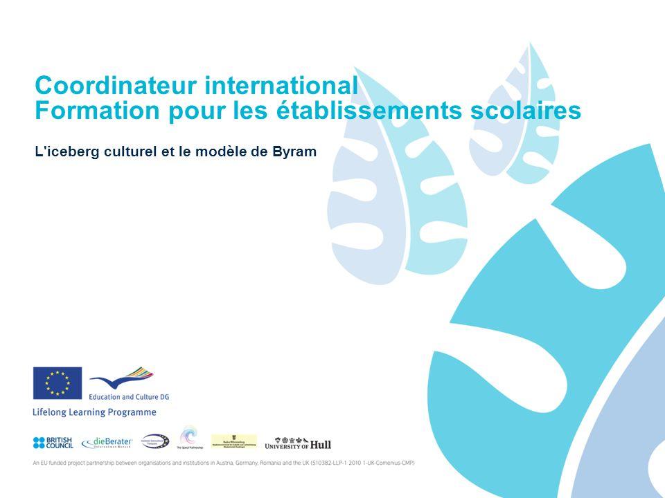 Coordinateur international Formation pour les établissements scolaires L iceberg culturel et le modèle de Byram