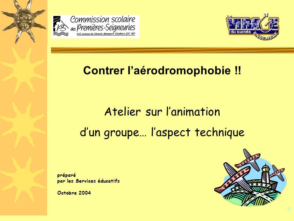 1 préparé par les Services éducatifs Octobre 2004 Contrer laérodromophobie !.