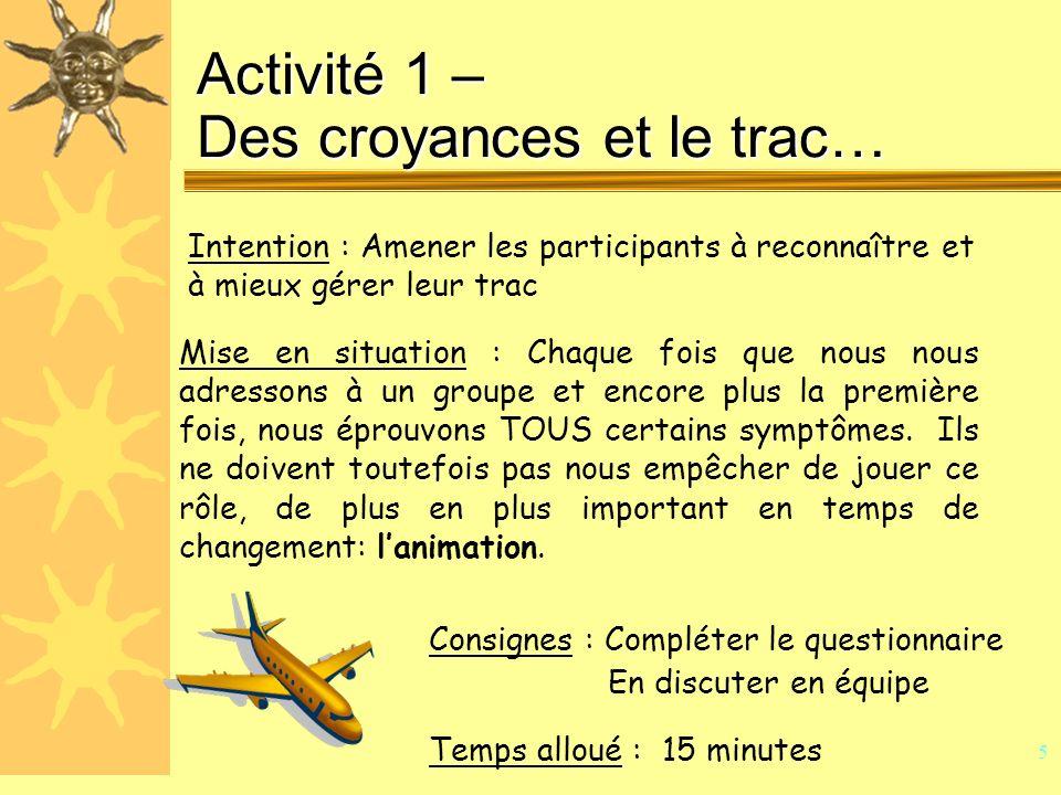 4 « Lanimation, cest avant tout un état desprit, un peu de talent et beaucoup de méthodes » François Laure