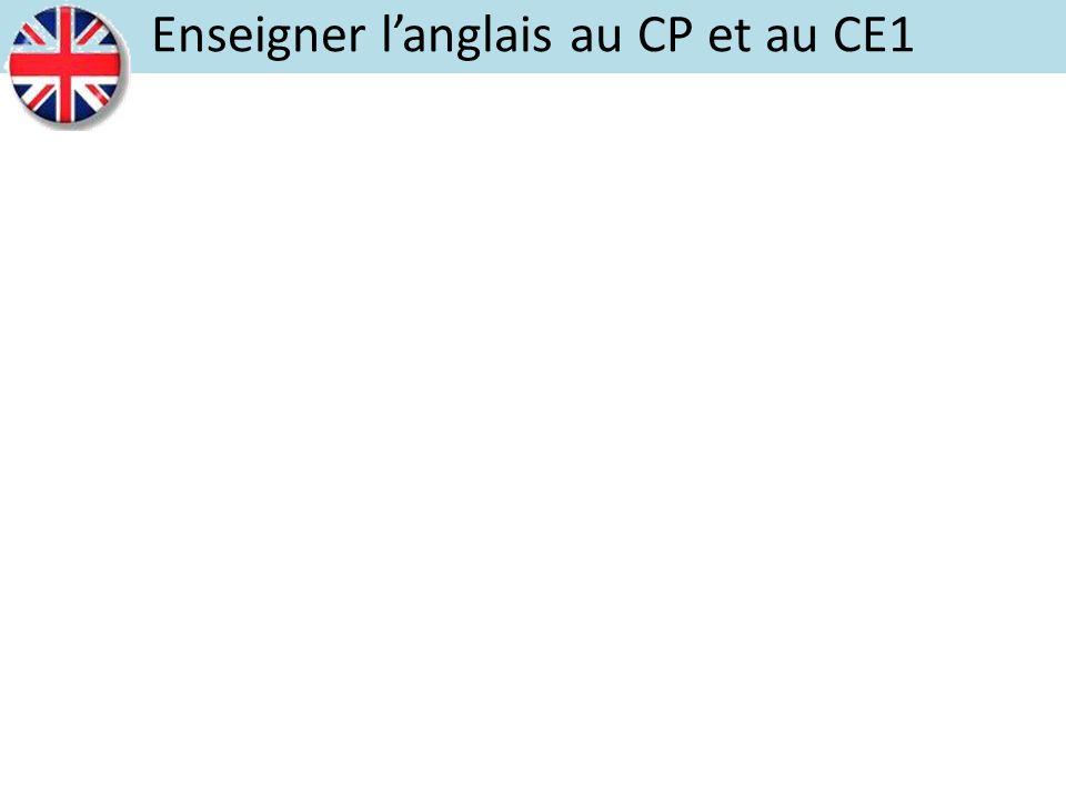 Enseigner langlais au CP et au CE1