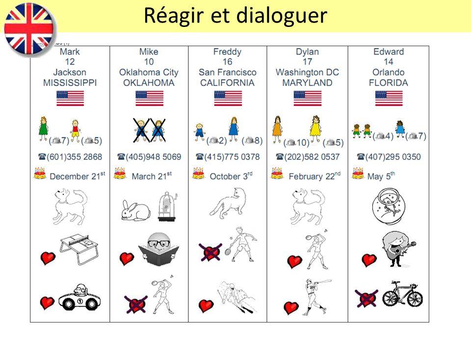 Réagir et dialoguer