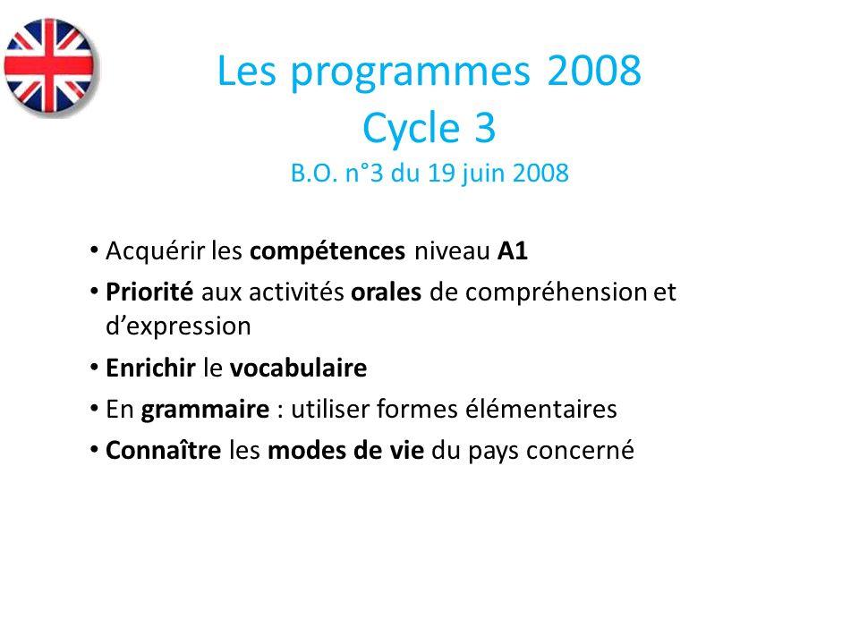 Acquérir les compétences niveau A1 Priorité aux activités orales de compréhension et dexpression Enrichir le vocabulaire En grammaire : utiliser forme