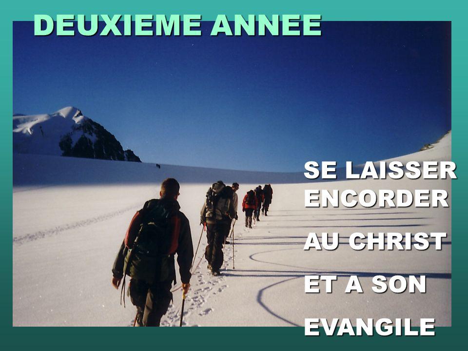 DEUXIEME ANNEE SE LAISSER ENCORDER AU CHRIST ET A SON EVANGILE