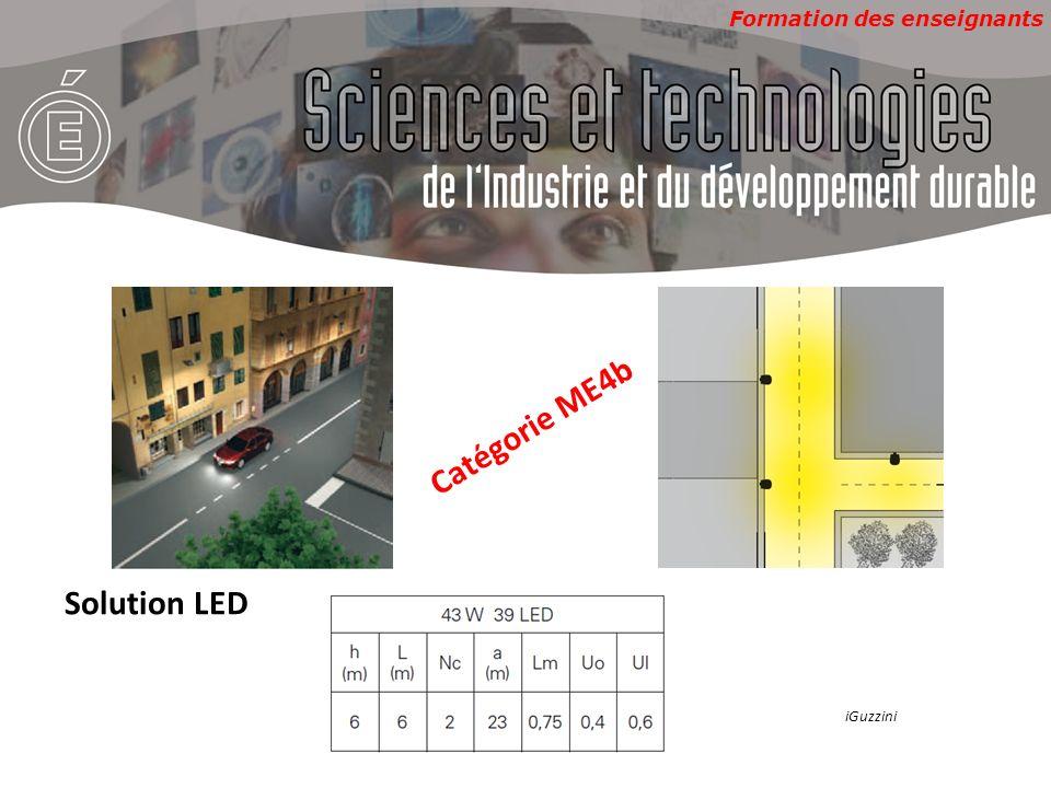Formation des enseignants Catégorie ME4b Solution LED iGuzzini