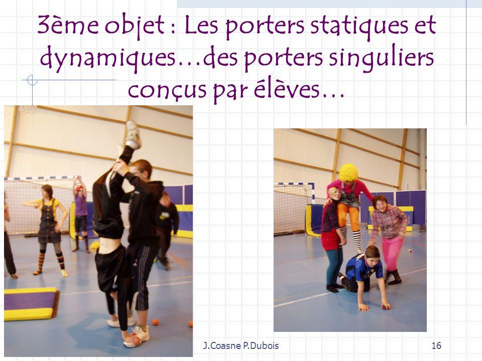 J.Coasne P.Dubois15 2ème objet Les circulations poids contrepoids… Les circulations…une partie du corps tirée par un fil. Les circulations…les collabo