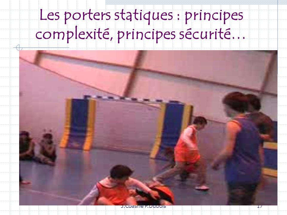 J.Coasne P.Dubois16 3ème objet : Les porters statiques et dynamiques…des porters singuliers conçus par élèves…