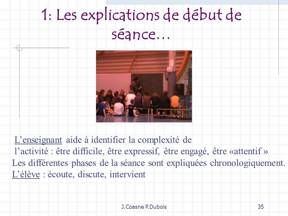 J.Coasne P.Dubois34 1:Espace explications