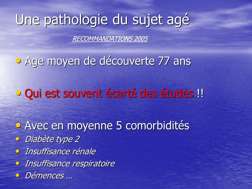 Une pathologie du sujet agé Une pathologie du sujet agé RECOMMANDATIONS 2005 Age moyen de découverte 77 ans Age moyen de découverte 77 ans Qui est sou
