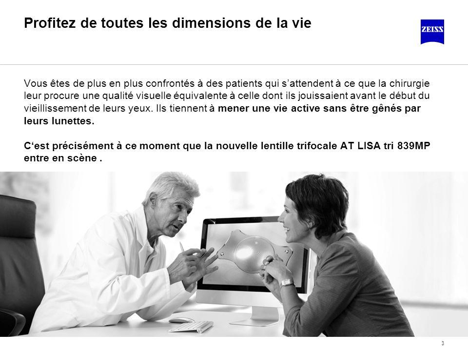 3 Profitez de toutes les dimensions de la vie Vous êtes de plus en plus confrontés à des patients qui sattendent à ce que la chirurgie leur procure un
