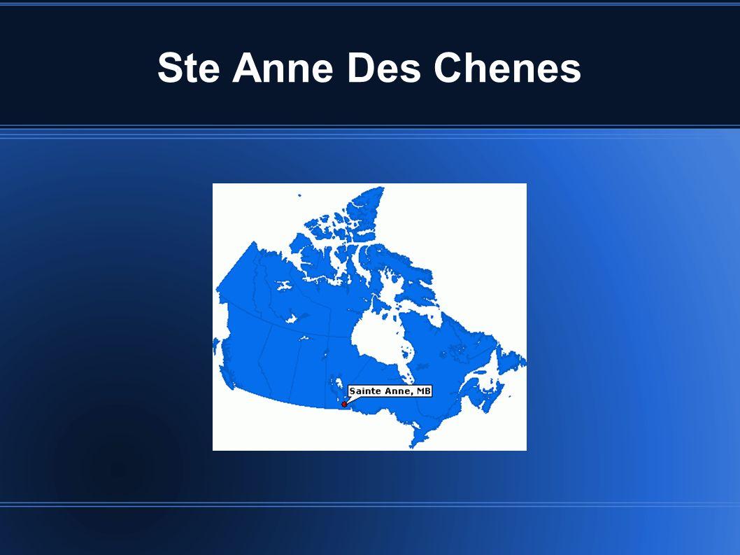 Bienvenue à Sainte-Anne-des-Chênes Nous espérons que vous vous joindrez à notre famille des soins de santé Pour l instant, mettre à l aise que nous présentons votre nouvelle communauté