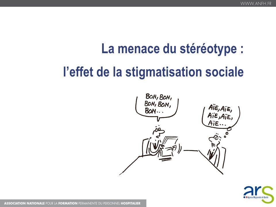 La menace du stéréotype : leffet de la stigmatisation sociale