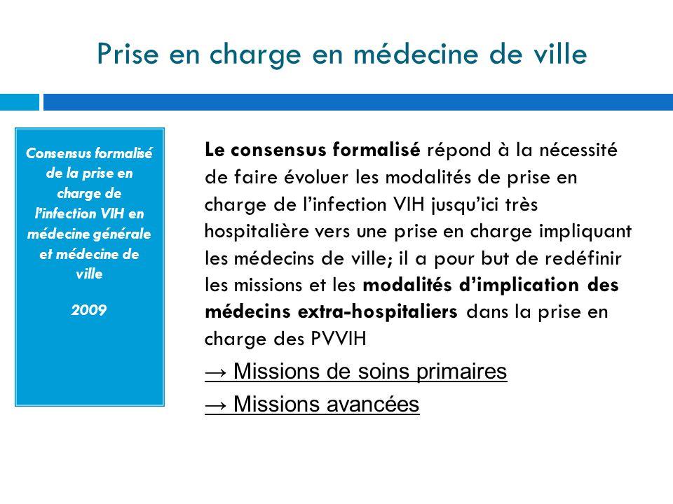 Prise en charge en médecine de ville Consensus formalisé de la prise en charge de linfection VIH en médecine générale et médecine de ville 2009 Le con