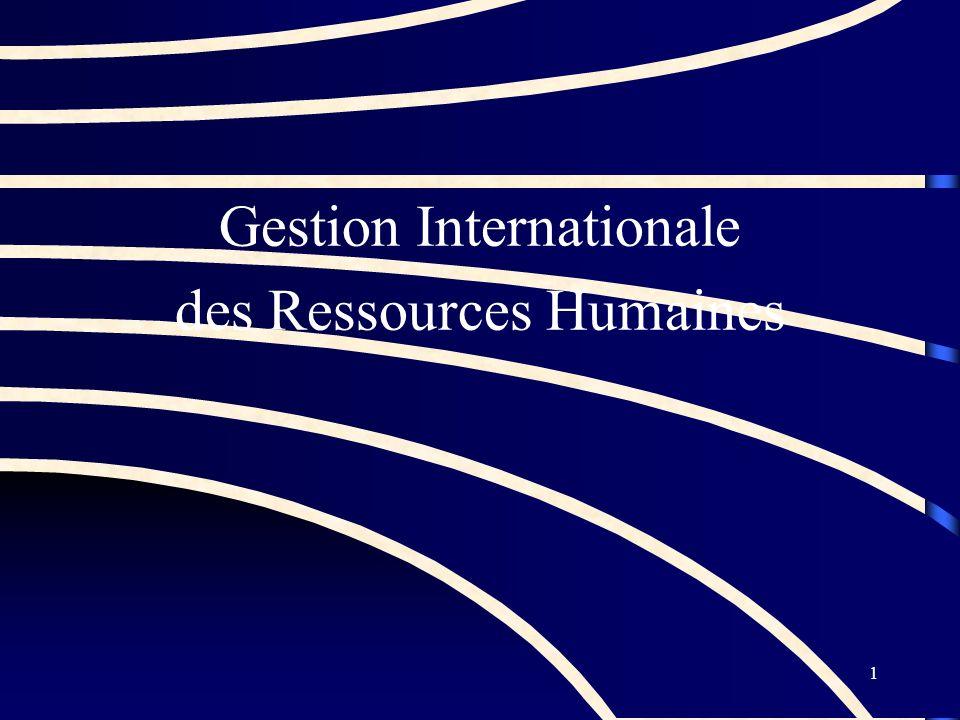 1 Gestion Internationale des Ressources Humaines