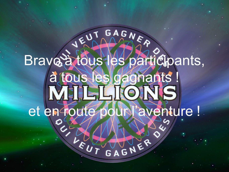 Bravo à tous les participants, à tous les gagnants ! et en route pour laventure !
