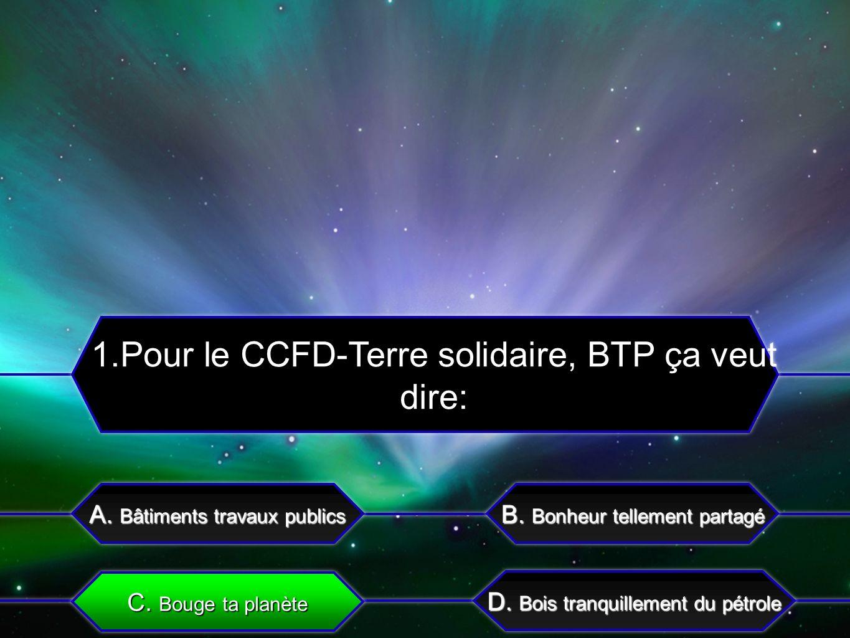 C.Une course pour sengager avec le CCFD A. Un événement proposé par le CCFD B.