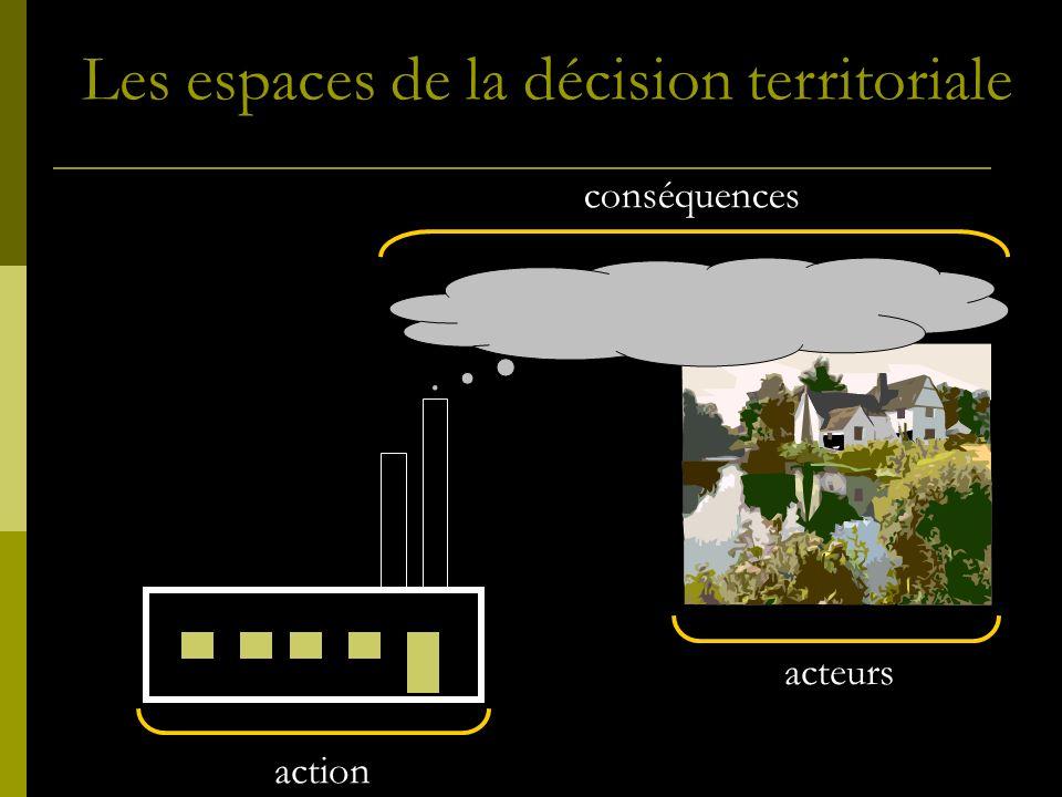 acteurs action conséquences Les espaces de la décision territoriale