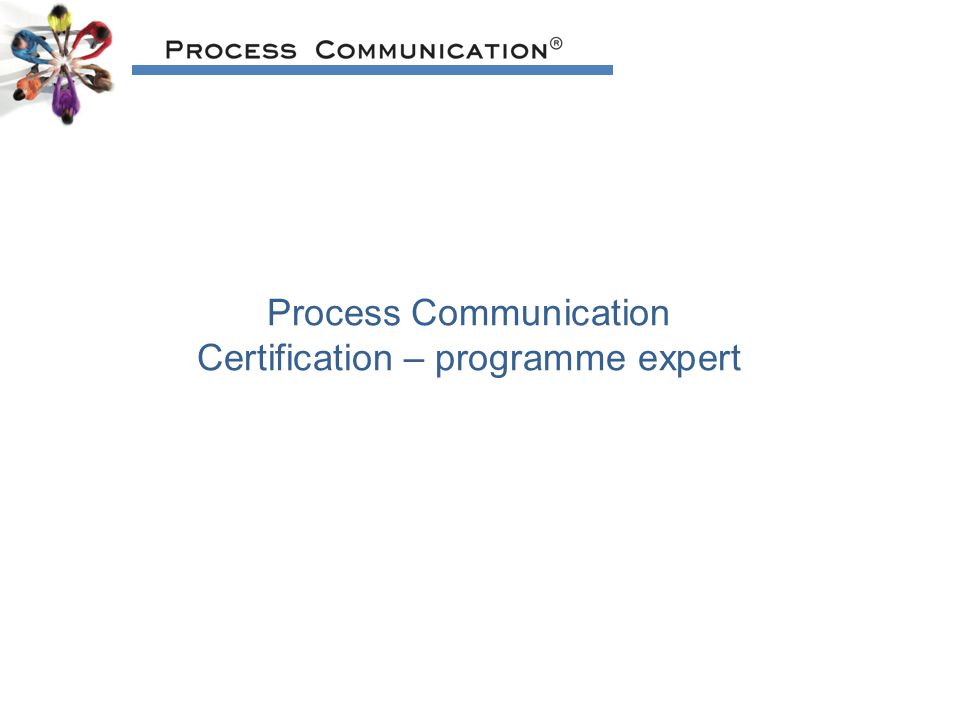 Process Communication Certification – programme expert