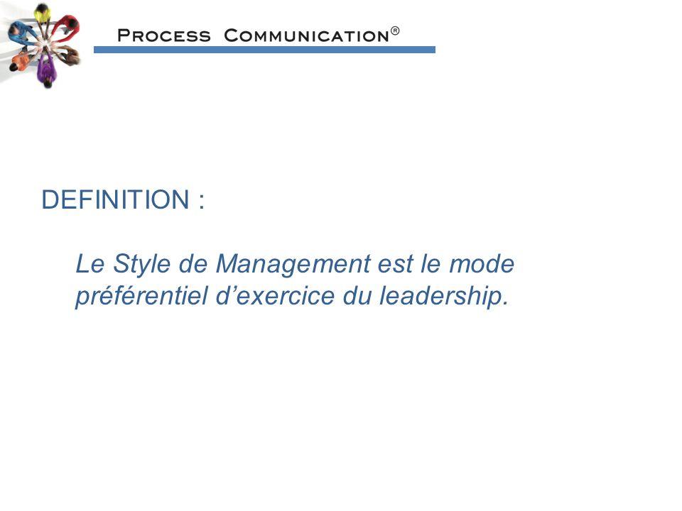 DEFINITION : Le Style de Management est le mode préférentiel dexercice du leadership.