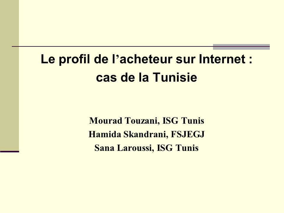 Le profil de l acheteur sur Internet : cas de la Tunisie Mourad Touzani, ISG Tunis Hamida Skandrani, FSJEGJ Sana Laroussi, ISG Tunis