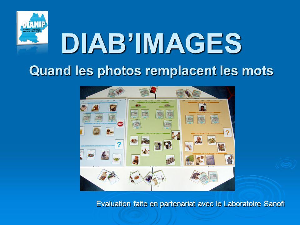 DIABIMAGES Quand les photos remplacent les mots Evaluation faite en partenariat avec le Laboratoire Sanofi
