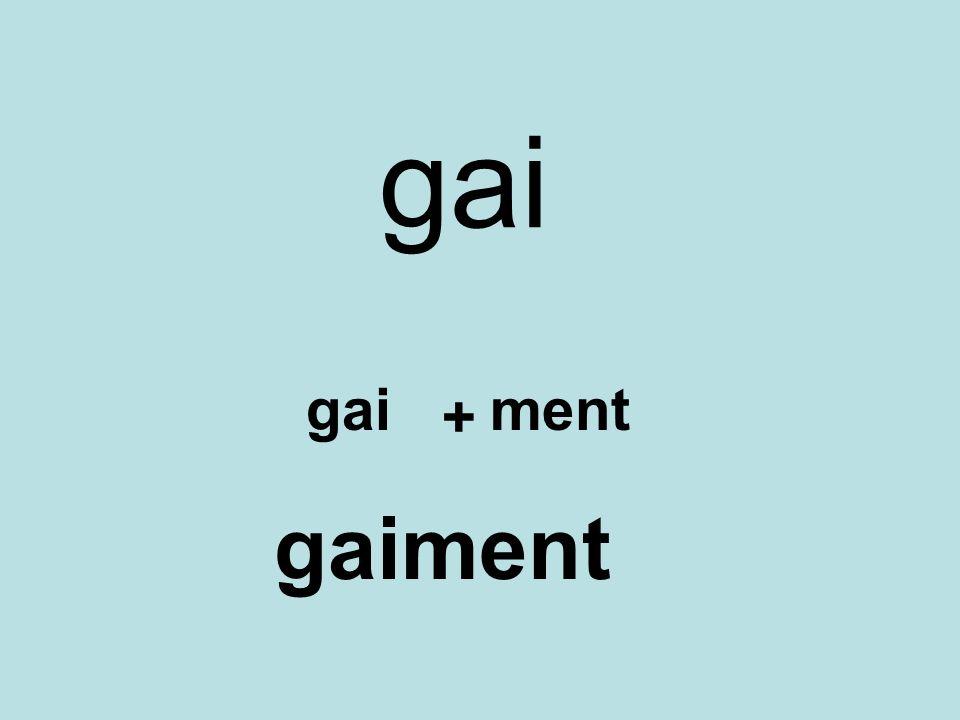 gai + ment gaiment