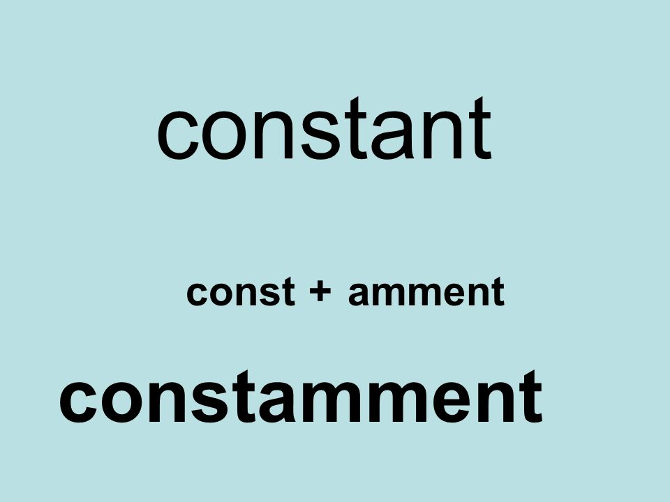 constant const+amment constamment