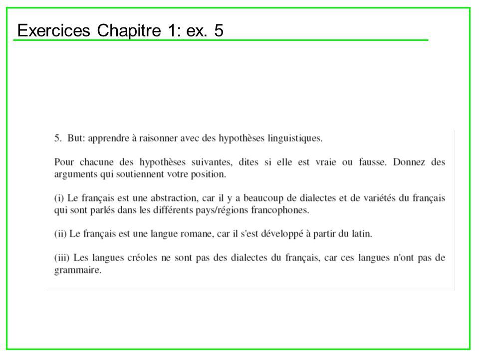 Si on veut étudier le français on rencontre des problèmes à deux niveaux: (1) la définition des frontières externes et (2) la définition des variations internes Lhypothèse est vraie