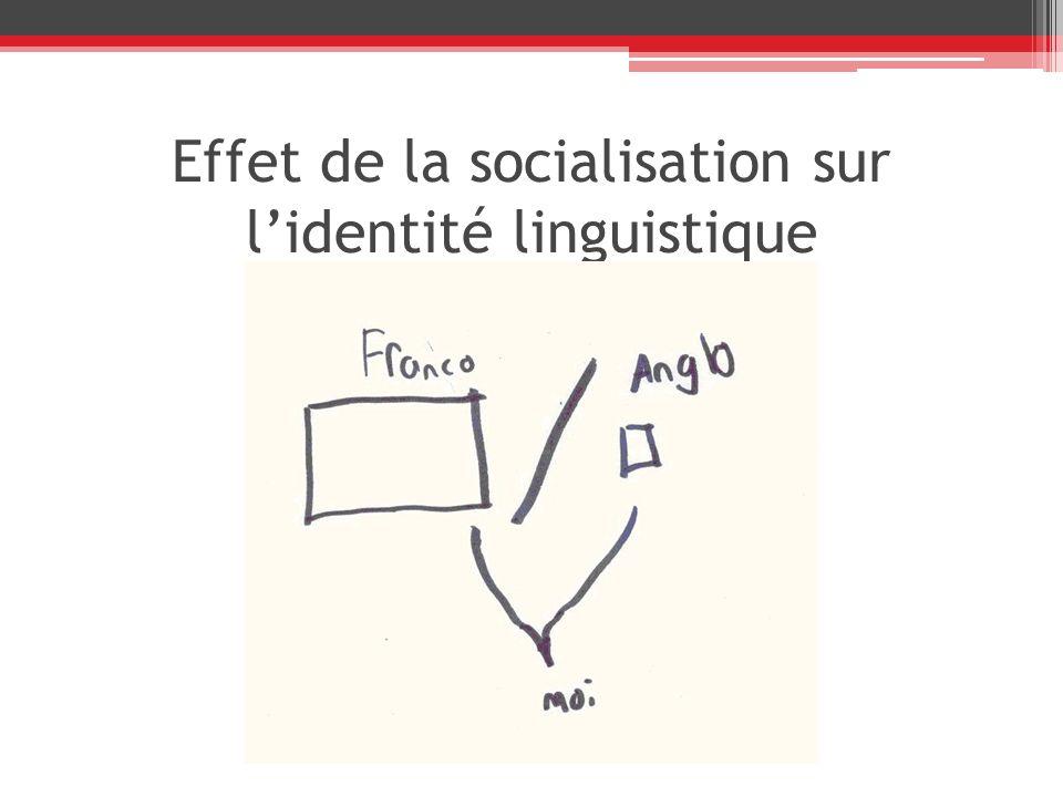 Effet de la socialisation sur lidentité linguistique