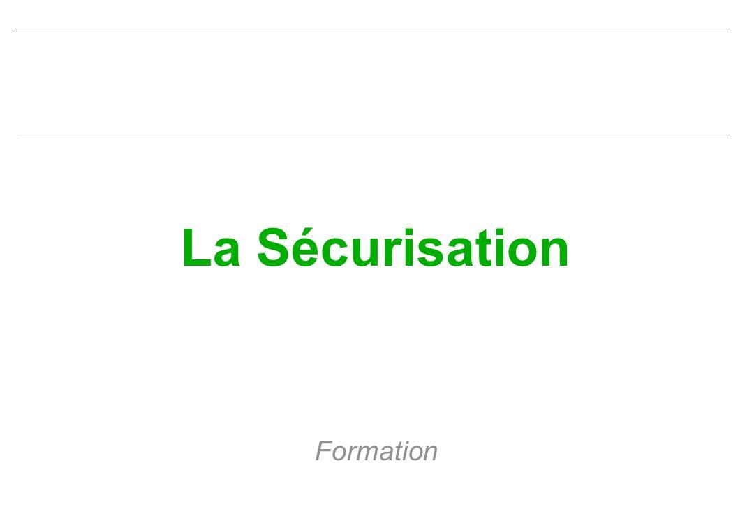 La Sécurisation Formation
