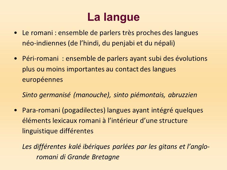 Lintercompréhension entre les groupes Intercompréhension facile entre les différentes variétés de romani, difficile entre locuteurs de romani et de péri-romani, impossible entre romani et para-romani.