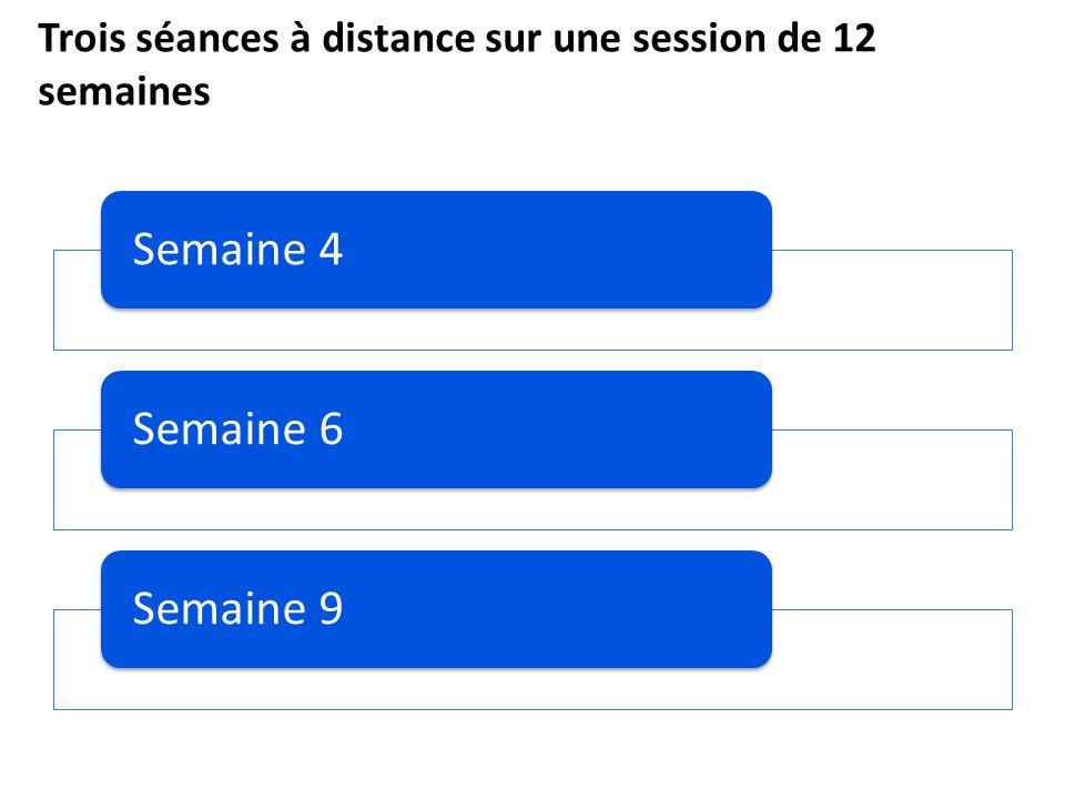 Trois séances à distance sur une session de 12 semaines