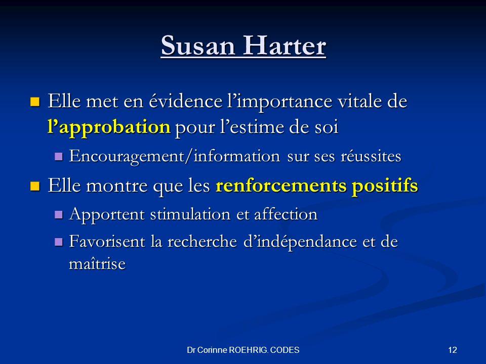 Susan Harter Elle met en évidence limportance vitale de lapprobation pour lestime de soi Elle met en évidence limportance vitale de lapprobation pour