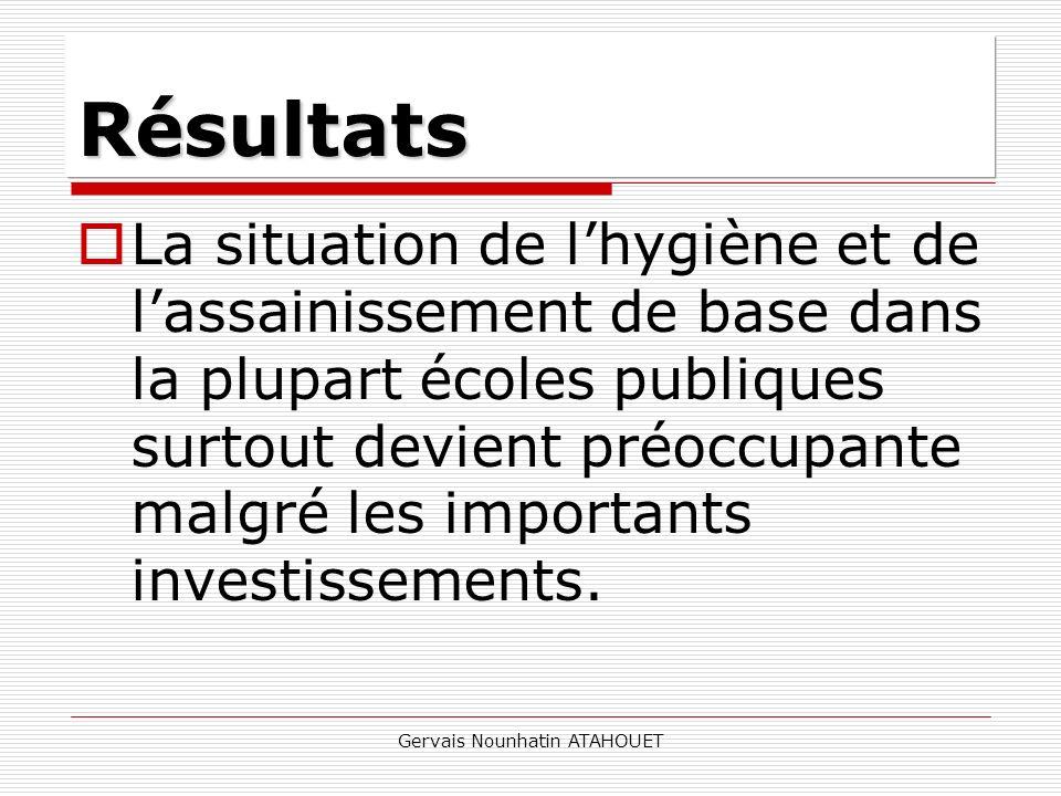Gervais Nounhatin ATAHOUET La situation de lhygiène et de lassainissement de base dans la plupart écoles publiques surtout devient préoccupante malgré