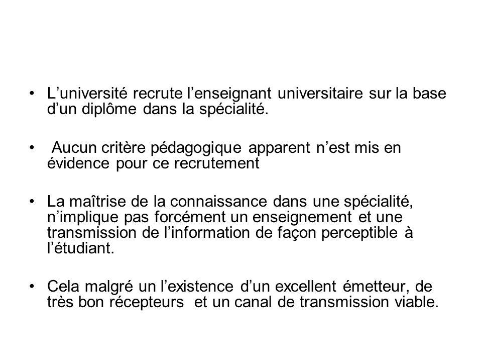 Luniversité recrute lenseignant universitaire sur la base dun diplôme dans la spécialité.