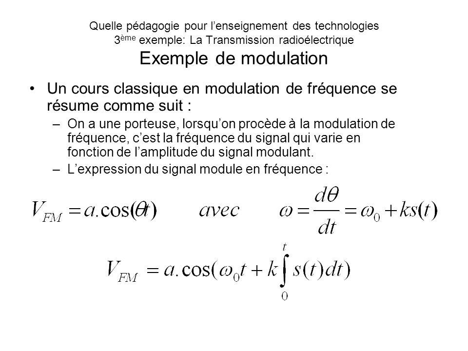 Quelle pédagogie pour lenseignement des technologies 3 ème exemple: La Transmission radioélectrique Dans une transmission radioélectrique. Il y a deux
