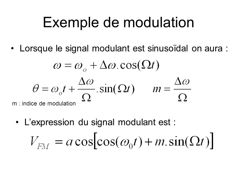 Quelle pédagogie pour lenseignement des technologies 3 ème exemple: La Transmission radioélectrique Exemple de modulation Un cours classique en modula