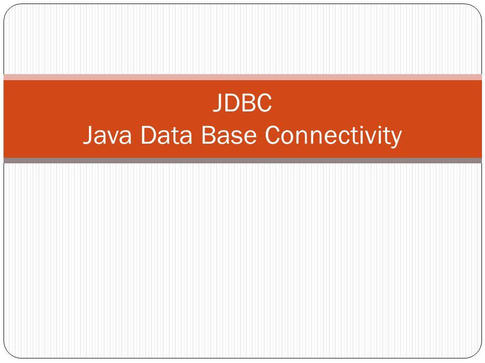 Récupération Résultat La classe java.sql.ResultSet Accès aux valeurs : Type getType( int ); Type getType( String ); boolean next(); Le Type peut être: