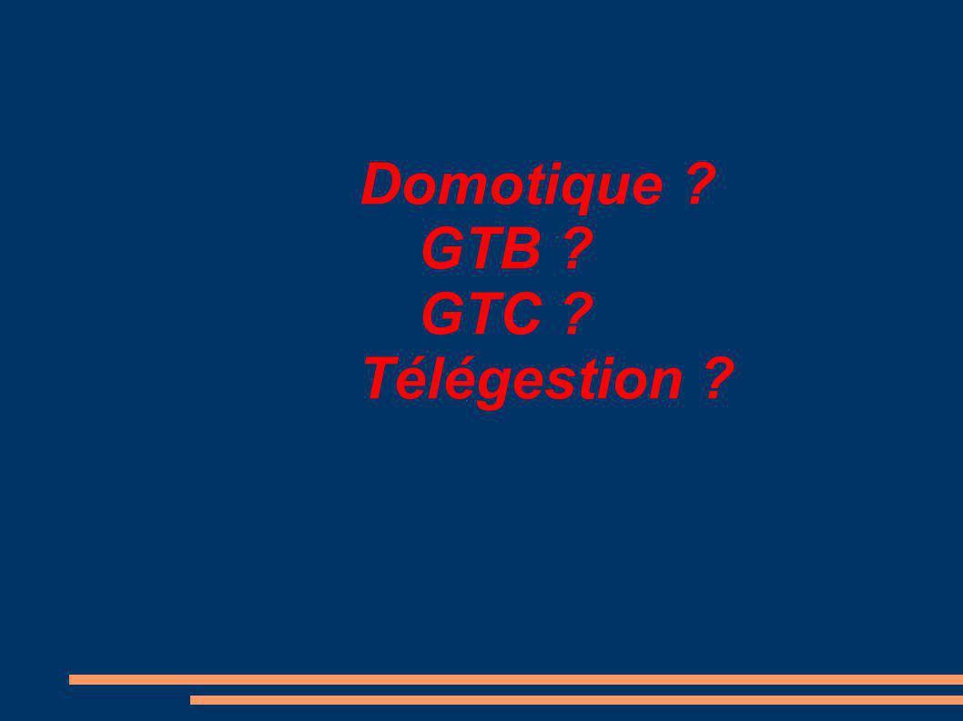 Domotique ? GTB ? GTC ? Télégestion ?