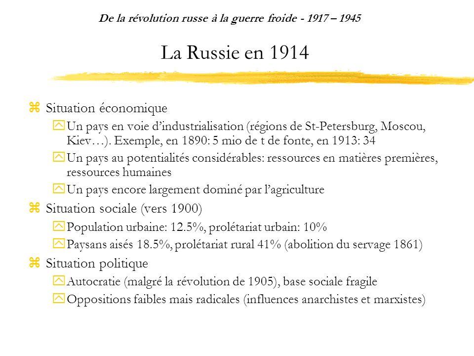 Le stalinisme: idéologie et propagande De la révolution russe à la guerre froide - 1917 – 1945