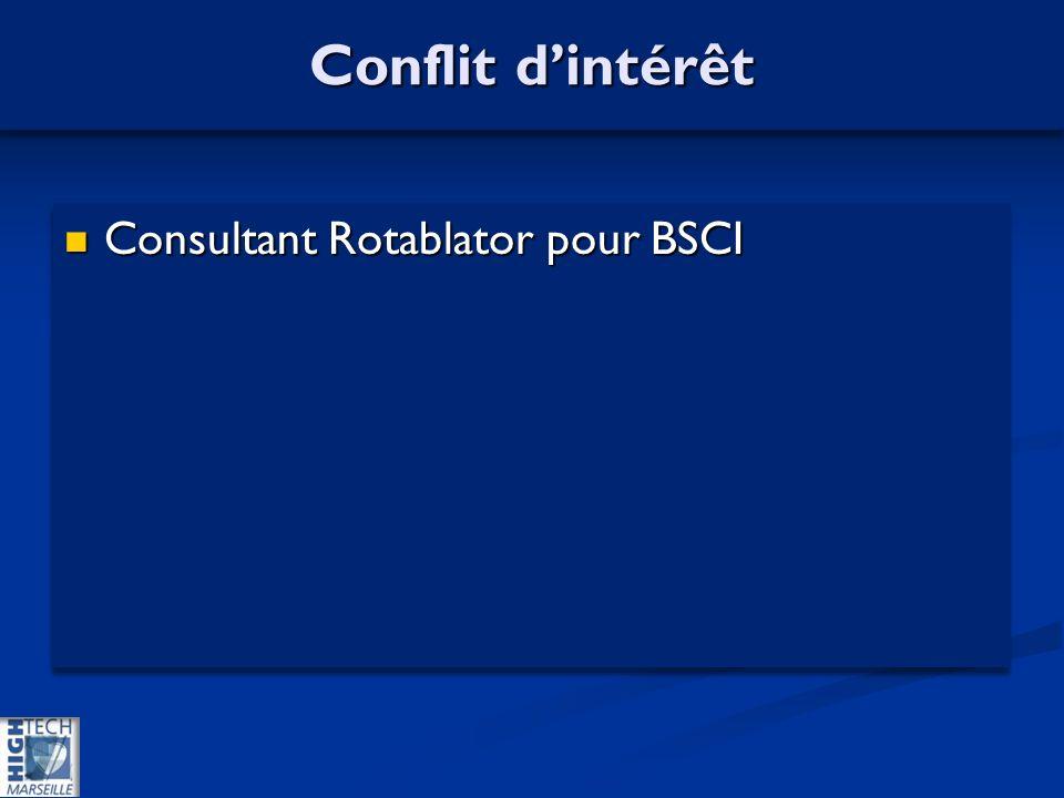 Conflit dintérêt Consultant Rotablator pour BSCI Consultant Rotablator pour BSCI