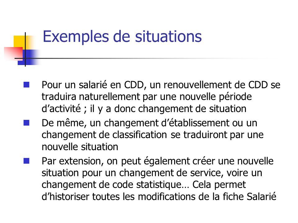 Exemples de situations Pour un salarié en CDD, un renouvellement de CDD se traduira naturellement par une nouvelle période dactivité ; il y a donc cha