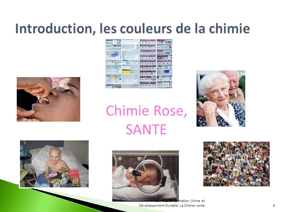 Chimie Rose, SANTE 4 Journée de formation Chime et Développement Durable, La Chimie verte